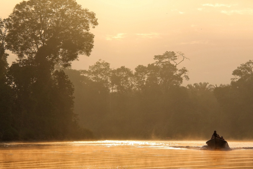 Kinabatangang sunrise Sabah Borneo Malaysia