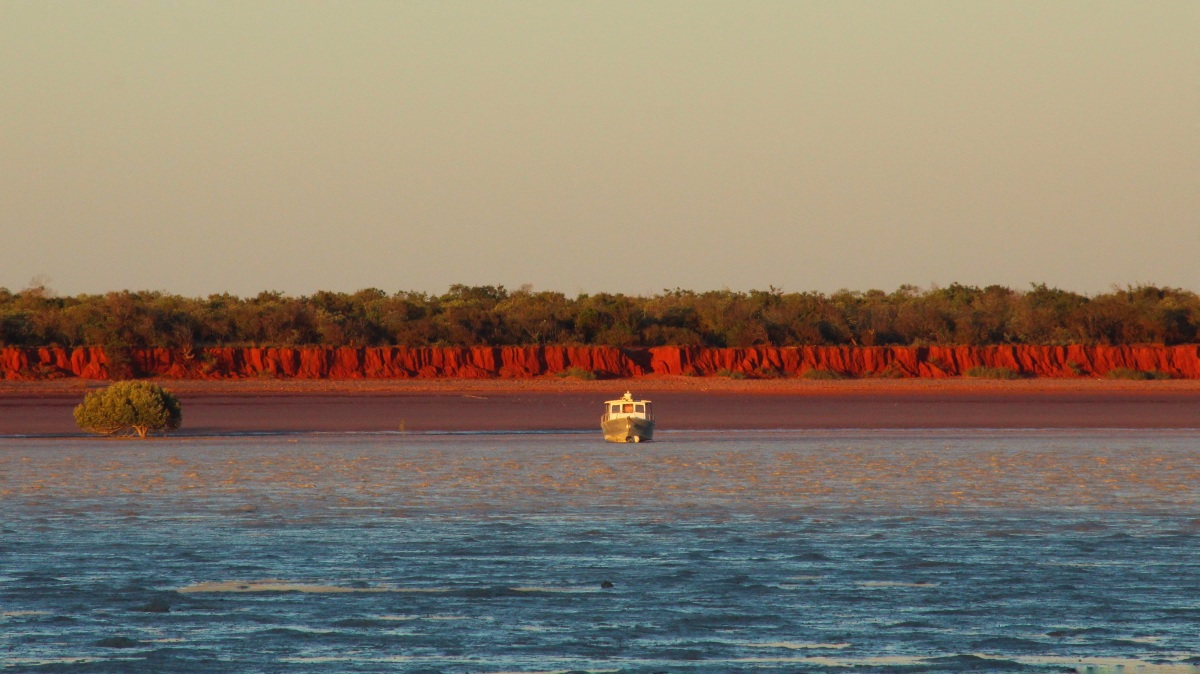 Sunset at Roebuck Bay seen from Broome Bird Observatory