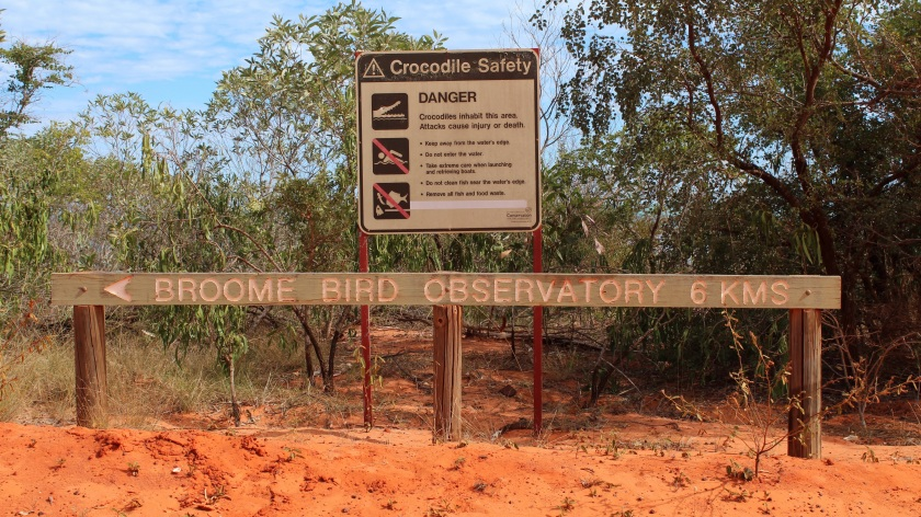 Broome Bird Observatory Sign
