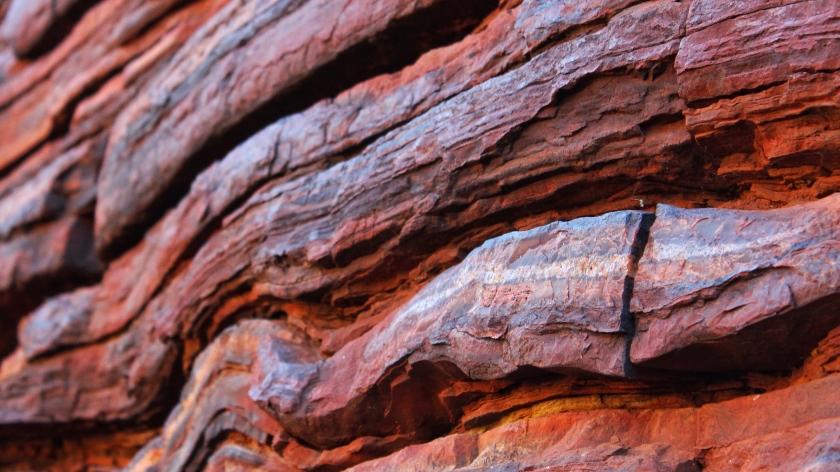 Banded Iron Formation Dales Gorge Karijini Western Australia